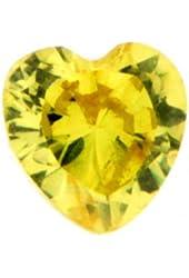 November Crystal Heart Birth Month Floating Locket Charm