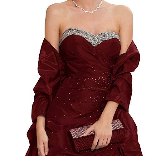 LANSITINA Shawls Wraps Vintage Satin Shawls Plus Size Formal Evening Dresses Wraps