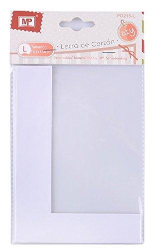 MP PD215-L - Letra grande de carton para scrapbooking, 16.5 ...
