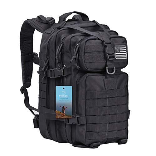 Prospo 40L Military Tactical Backpack Molle Shoulder Bag Rucksack Assault Pack Daypack for Camping Trekking Hunting Fishing(Black)
