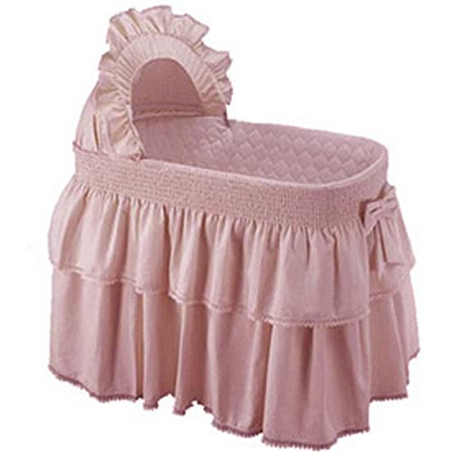 Babykidsbargains Paradise Rainbow Bassinet Skirt and Hood, Pink, 16