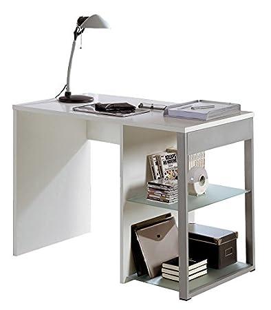 Abitti Mesa Escritorio Color Blanco con estantes Regulables de ...