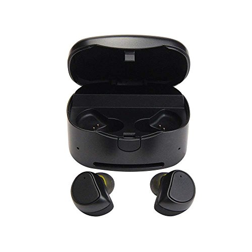 Bluetooth Headphone,MeiLiio Wireless Sports Earphones with Charging Box Noise Cancelling Sweatproof Mini Headset for iPhone iPad Samsung Tablets&All Bluetooth Device, Black