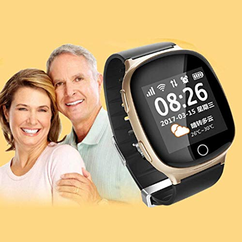 DBCSD Watches Elderly Heart Rate Monitor GPS Tracking Communicator Tracker Watch, GPS+LBS+WiFi, 1.54 inch Touchscreen, One-Key SOS, Fall Alarm, Broadcast Time, 2-Way Audio Calls, Medication Re