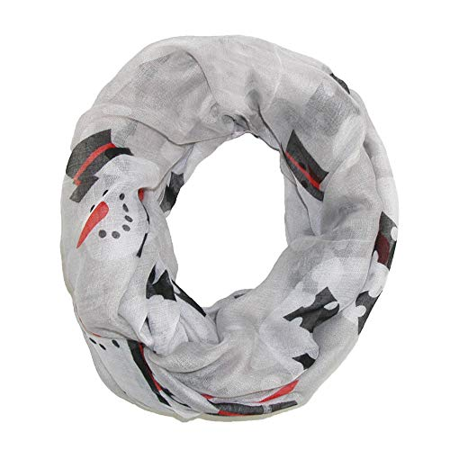 David & Young Women's Happy Snowman Infinity Loop Scarf, Grey (Snowmen Gifts)