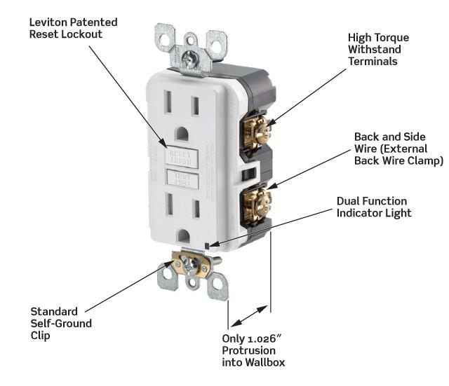 41g9eIj4xXL leviton n7599 w 15 amp 125 volt smartlock pro slim non tamper leviton gfci wiring diagram at webbmarketing.co