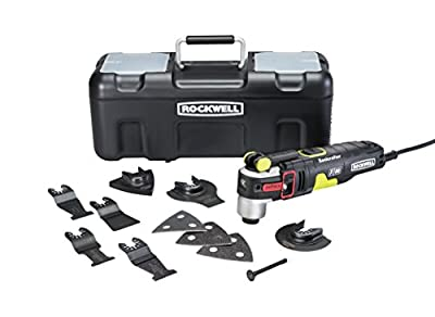 Rockwell RK5151K 4.2 Amp Sonicrafter F80 Oscillating Multi-Tool with Duotech Oscillation Angle Technology. 12 Piece Kit includes 10 Accessories, Carrying Bag, and Oscillating Tool