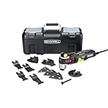 Rockwell 4.2 Amp Sonicrafter F80 Oscillating Multi-Tool with Duotech Adjustable Oscillation Degree Technology and 10-Piece Kit - RK5151K