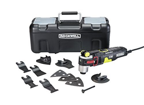 Rockwell RK5151K 4.2 Amp Sonicrafter F80 Oscillating Multi-Tool with Duotech Oscillation Angle Technology. 12 Piece Kit includes 10 Accessories, Carrying Bag, and Oscillating Tool from Rockwell