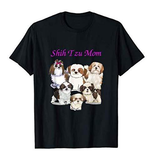 Shih Tzu Mom T-Shirt Longslee Sweatshirt Hoodie