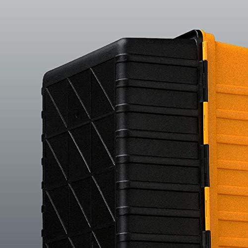 CHUNSHENN ツールボックス 工具箱 適するのホームアウトドア修復ツールストレージボックス、黄色のPPマルチツールボックス、17インチ(カラー:イエロー、サイズ:42 * 20 * 17.5センチメートル)