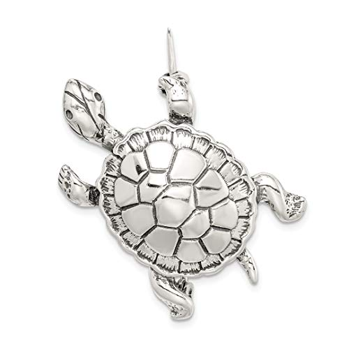 925 Sterling Silver Turtle Pin Fine Jewelry Gifts For Women For Her ()