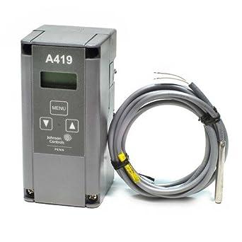 Johnson controls thermostat a419 manualselfiequiet temperature sensor
