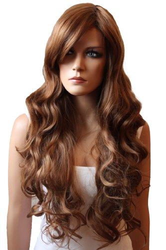 PRETTYSHOP Lady Wig Long Hair Cosplay Theater Party curled Wavy Heat-Resistant FP712 Variation (dark blonde 27/30 (Dark Blonde Wig)