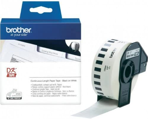 Endlosrolle 12mm P-Touch QL 500 Brother Etiketten 12 mm x 30, 48 meter, Papier, 1 Endlosetikett, DK Label für Ptouch QL500, QL 500A, 500BW