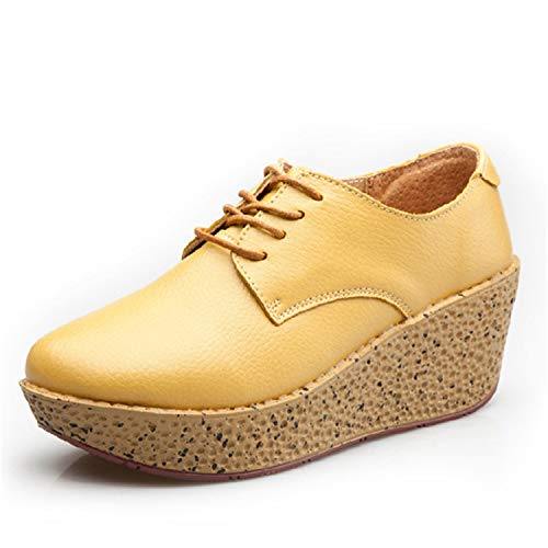 35 con Basse Scarpe Donna Plateau Yellow per Basse Scarpe 40 qA0Zvx40wS