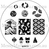 MESSY MANSION MM09 Nail Art Stamping Plate - Japanese Themed