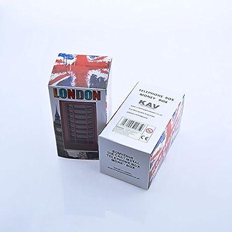 Londra KAV Salvadanaio a Forma di Cabina telefonica Regno Unito da Collezione Inghilterra Rosso Scatola Rossa Souvenir Union Jack on Box//Speicher//Memoria Large Phone Booth Distinctive