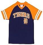 OuterStuff Detroit Tigers Navy Blue Wordmark Kids V-Neck T-Shirt