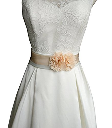 Simple Flowers Belts/sashes for Wedding/party/bridal Dress A06 (Champagne)