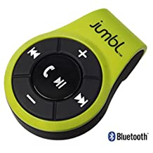 Jumbl™ Bluetooth 4.0 Hands-Free Calling & A2DP Audio Streaming Adapter/Receiver for 3.5mm Devices with Multipoint Technology – Converts Wired 3.5mm Headphones into Wireless Music Streaming Stereo Earphones – w/Built-In Mic - Micro USB Charging - Green