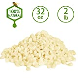 Addbeaut White Beeswax Pellets 2LB/ 32 oz 100% Pure and Natural Triple Filtered for Skin, Face, Body and Hair Care DIY Creams, Lotions, Lip Balm and Soap Making Supplies