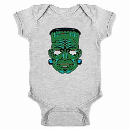 Frankenstein Retro Mask Halloween Costume Horror Gray 6M Infant Bodysuit