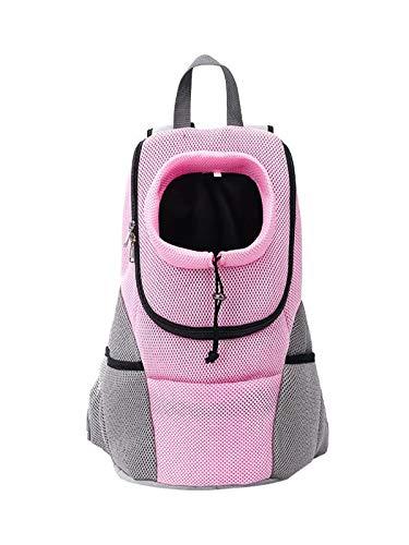 Cinhent Multi-Purpose Pet Backpack Shoulder Chest Cat Dog Out Carrying Diaper Bag (Pink, M)
