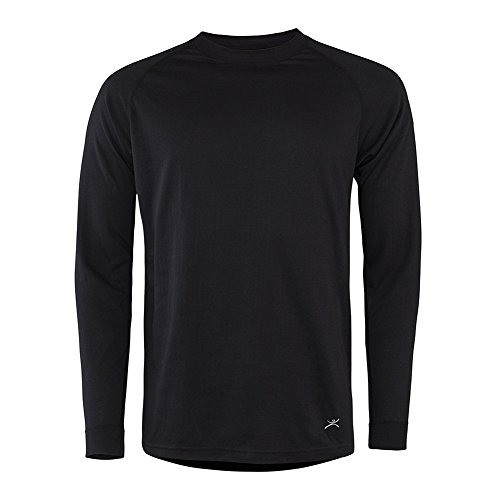 - Terramar Men's 2-Layer Authentic Thermal Crew Black M