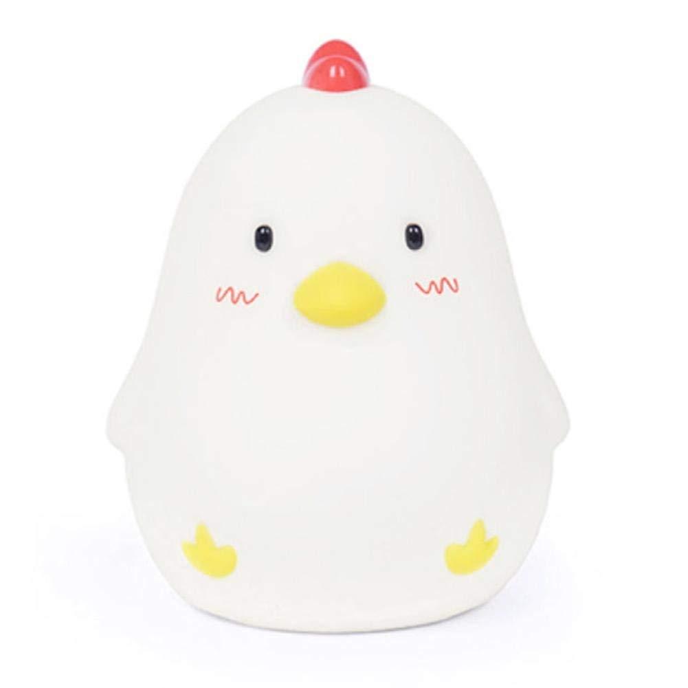 ADCorner Bedside Lamp Chicken Wake Up Alarm Clock Adjustable Brightness Night Light for Nursery Baby Kids Bedroom Birthday Chicken Lovers Gift