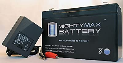 12V 9AH SLA Battery for Lowrance Portable Fishfinder + 12V Charger - Mighty Max Battery brand product