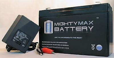 12V 9AH SLA Battery for Garmin Fishfinder 90 GPS + 12V Charger - Mighty Max Battery brand product