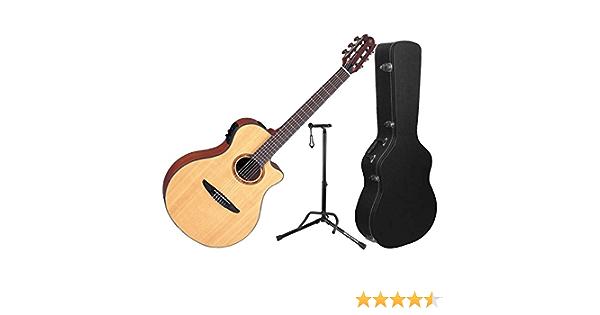 Yamaha ntx700 NTX guitarra electroacústica clásica guitarra w/carcasa rígida y soporte: Amazon.es: Instrumentos musicales