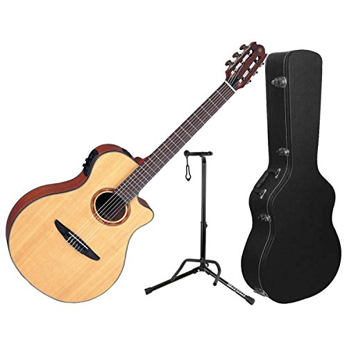 Yamaha NTX700 NTX ACOUSTIC-ELECTRIC CLASSICAL GUITAR w/ Hard Case and Stand - Classical Yamaha Stand