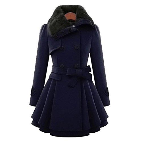 Wool Belt Tie Coat Jacket - 3