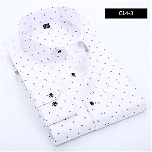 [Havadi Shirts 2016 New Fashion Casual Men Shirt Long Sleeve Polka Dot Slim Fit Shirt Men Dp Mens Dress Shirts Men Clothes 4Xl] (Morph Suite)