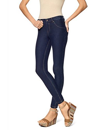 HUE Essential Denim Skimmer (Deep Indigo, L) (Skinny Jeans Leggings Hue)