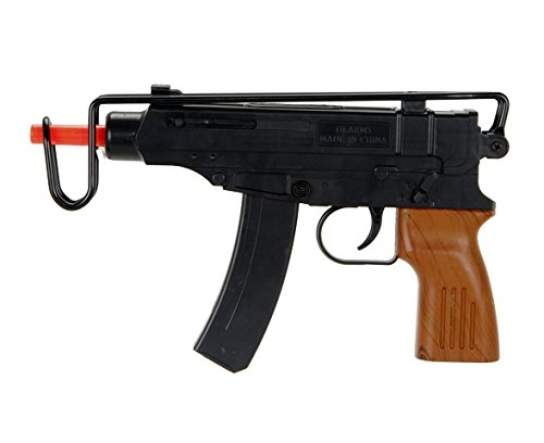 Spetsnaz Uzi Scorpion Spring Powered Airsoft Gun Tactical - Black
