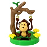 Toys : Greenbriar Plastic Solar-Powered Swinging Monkey, Style May Vary