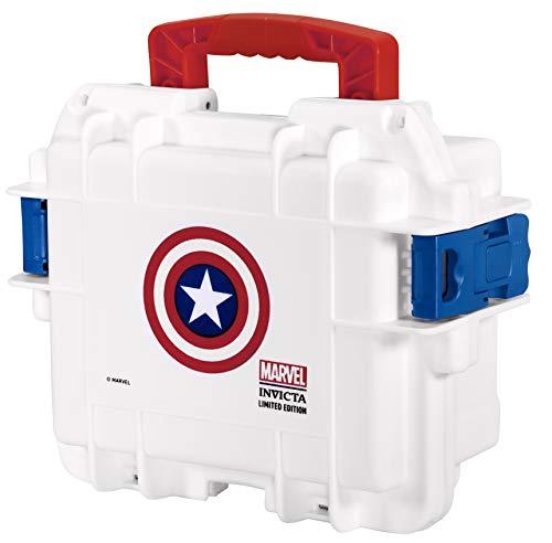 Invicta Captain America 3 Slot White Impact Dive/Collector Case