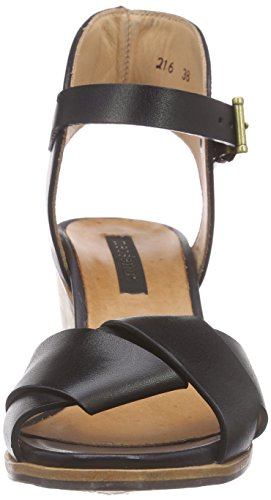 Neosens Noah, Women's Wedge Heel Ankle Strap Sandals Black - Schwarz (Ebony)