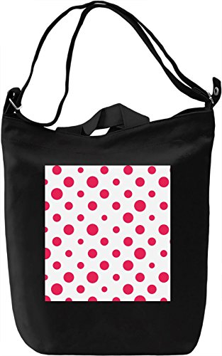Hot Pink Bubbles Print Borsa Giornaliera Canvas Canvas Day Bag| 100% Premium Cotton Canvas| DTG Printing|