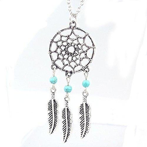 Tonsee Women Fashion Retro Jewelry Dream Catcher Pendant Chain Necklace