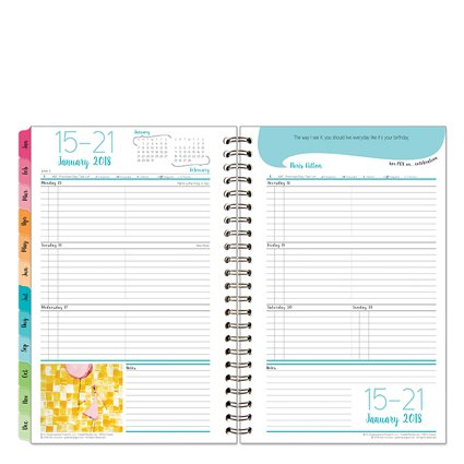 Her Point Of View Weekly - Classic Her Point of View Weekly Wire-bound Planner - Jan 2018 - Dec 2018
