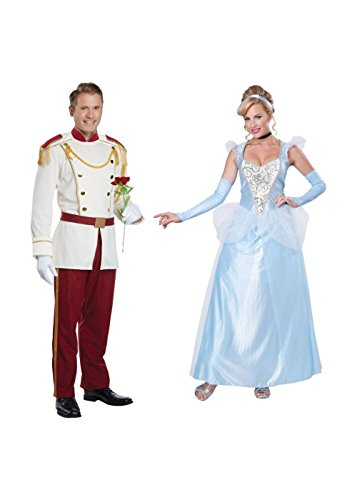 Prince Charming Men Costume and Cinderella Women