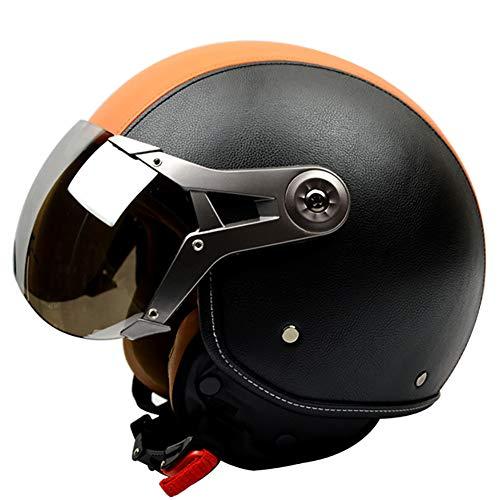 Motocicleta Casco Retro Fuerza Aerea Carro Electrico Medio Casco Gorra Protectora Cabeza Protección Casco,8,XL