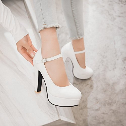 Bianco MissSaSa Tacco Scarpe Elegante Alto Donna wXqRvXT