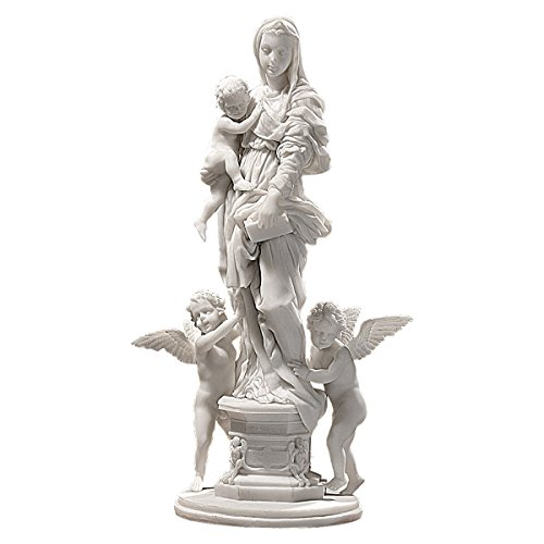 - Design Toscano Madonna of the Harpies Religious Statue, 14 Inch, Bonded Marble Polyresin, White