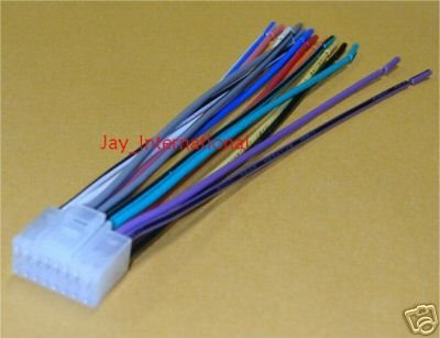 41g9kEWFaNL amazon com new eclipse radio cd wire wiring harness plug automotive eclipse avn4430 wiring diagram at honlapkeszites.co