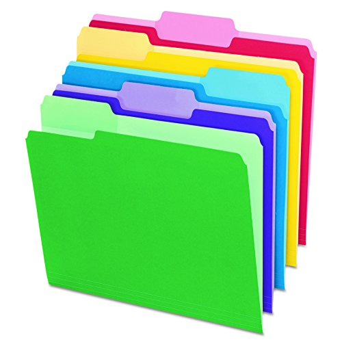 Pendaflex 1/3-Cut Top Tab Assorted File Folders with Erasable Tabs 30 Pack (84370)